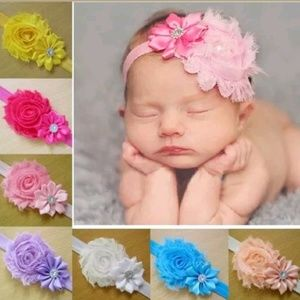 8PK floral Headbands Pretty Pastels